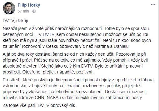 Repro FB profil Filipa Horkého